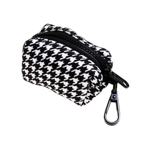 Houndstooth Waste Bag Holder - Canine Compassion Bandanas