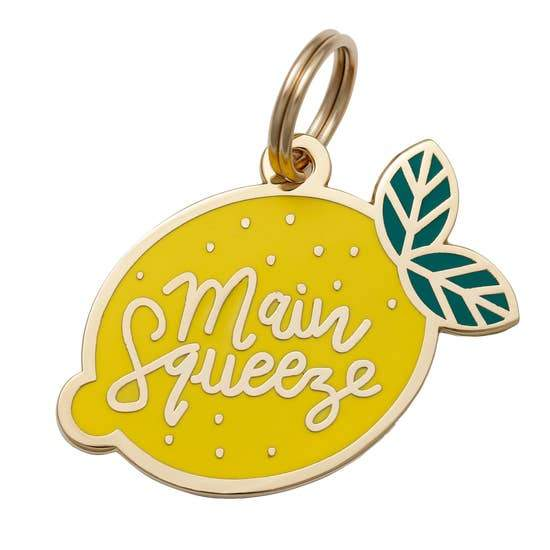 Main Squeeze Enamel Dog Tag - Canine Compassion Bandanas