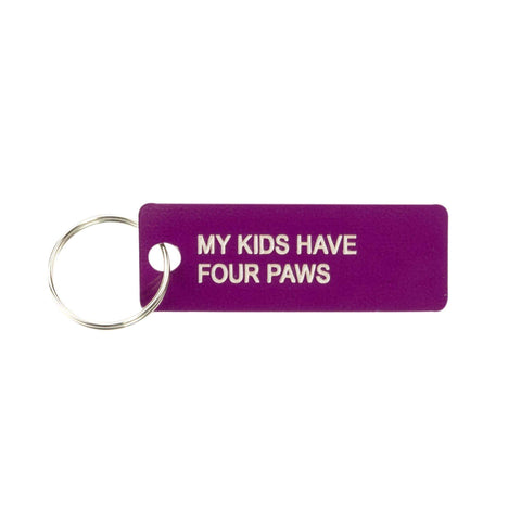 My Kids Have Four Paws Keychain - Canine Compassion Bandanas