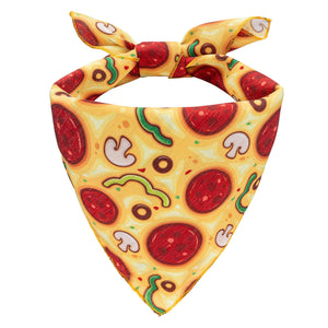 NEW! Pizza Party Dog Bandana - Canine Compassion Bandanas