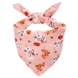 Orange Floral Dog Bandana - Canine Compassion Bandanas