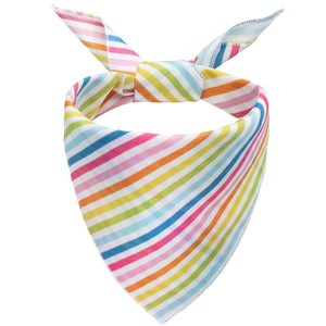 Pastel Stripes Dog Bandana - Canine Compassion Bandanas