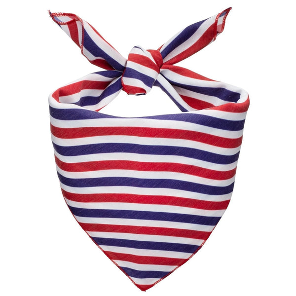 Patriotic Stripes Dog Bandana - Canine Compassion Bandanas