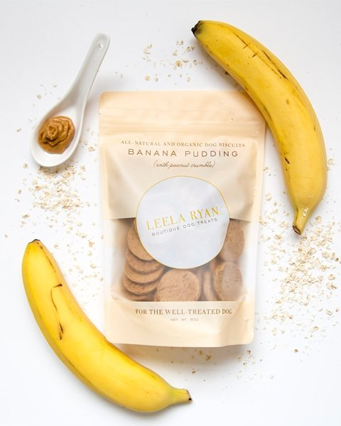 Peanut Butter and Banana Dog Treats - Canine Compassion Bandanas