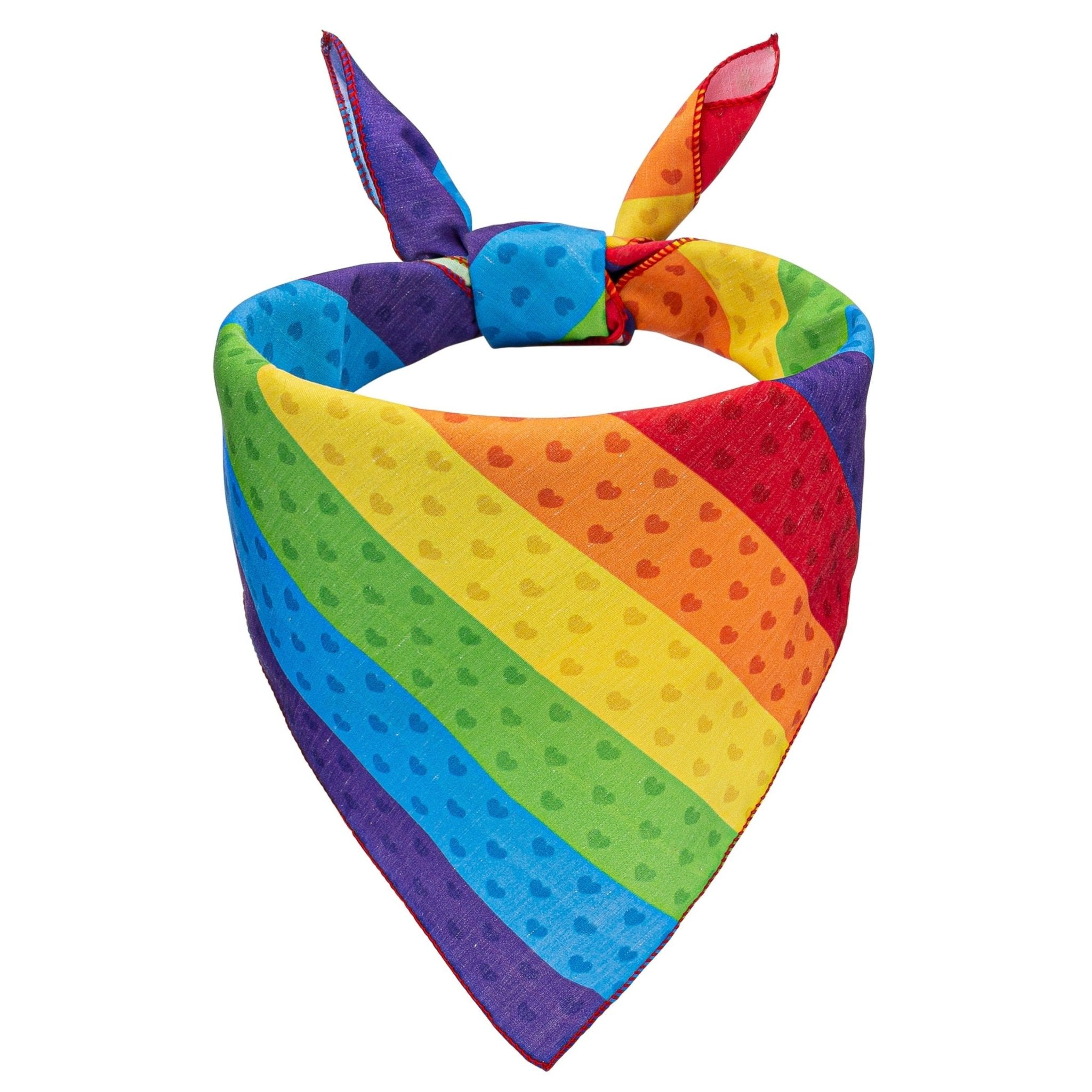 Pride Stripes Dog Bandana - Canine Compassion Bandanas