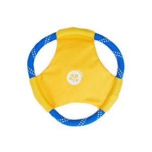 Rope Glider Dog Toy - Yellow - Canine Compassion Bandanas