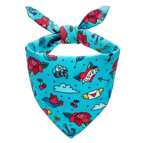 Tattoo Doodles Dog Bandana - Canine Compassion Bandanas