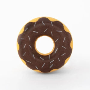 Tough Donut Dog Chew Toy - Chocolate - Canine Compassion Bandanas