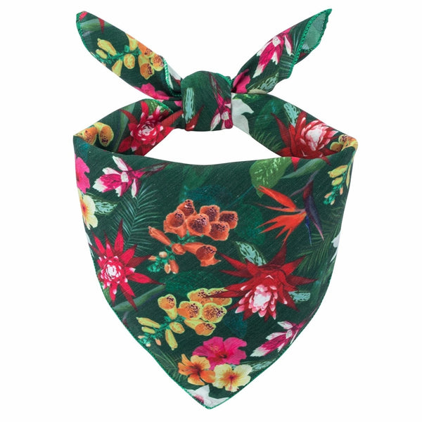 Tropical Flowers Dog Bandana - Canine Compassion Bandanas