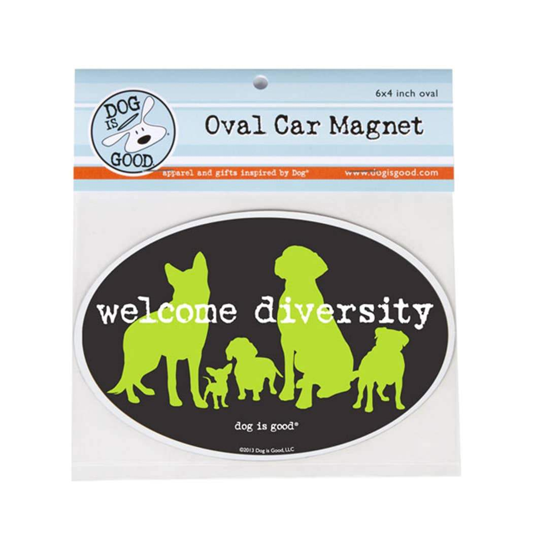 Welcome Diversity Car Magnet - Canine Compassion Bandanas