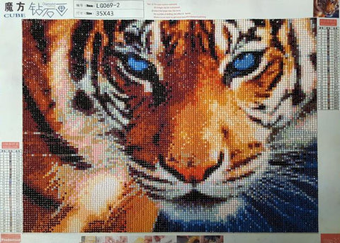 Tiger Diamond Paint Kit