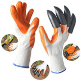 Rubber Gardening Gloves for garden Digging Planting with 4 ABS Plastic Claws