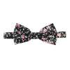 cotton bow tie, black floral