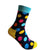 polka dot socks for men, black socks with polka dot pattern, bold socks, jazzy socks, funky socks, gift ideas for him, Happy Socks alternative