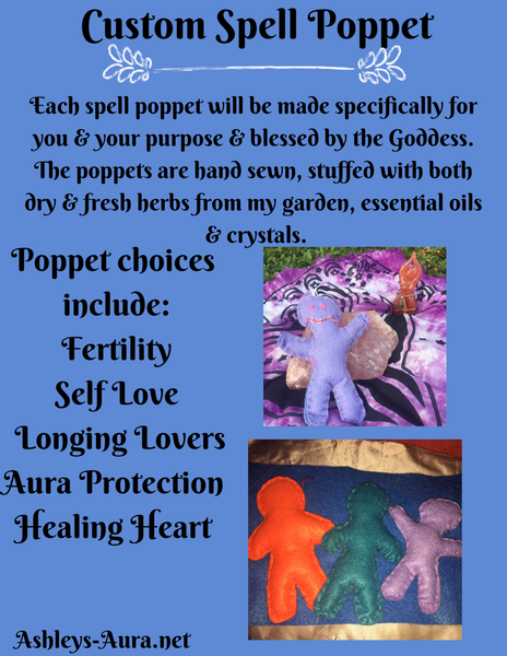 Custom Spell Poppets NOW ACCEPTING CUSTOM ORDERS