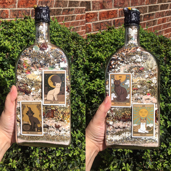 Witch Bottle: Cat Tarot Edition