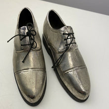 Load image into Gallery viewer, Silver coloured metal shoes