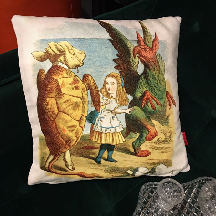 Turtle and Gryphon - Alice in Wonderland Cushion