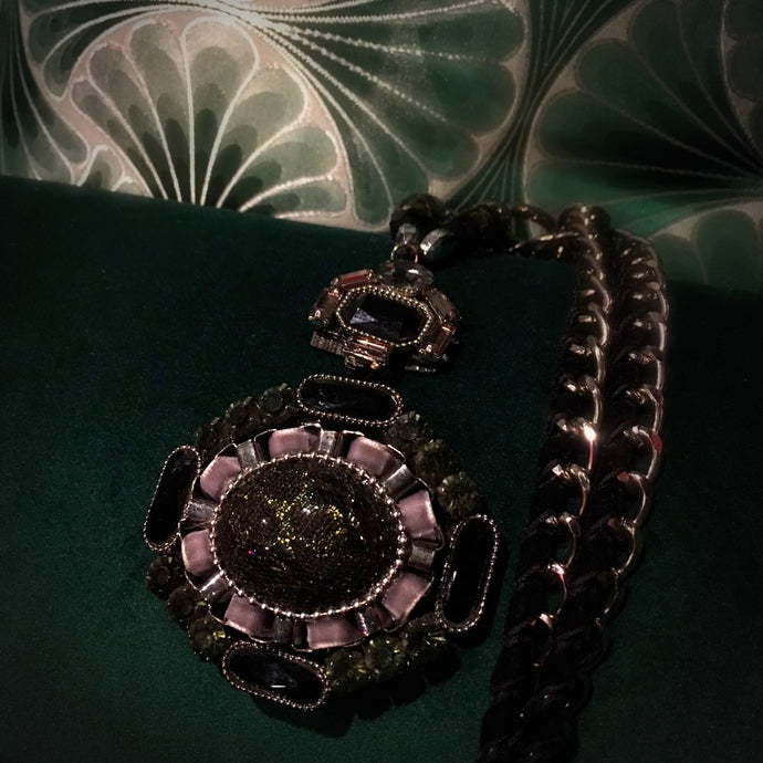 Baroque Pendant and Chain