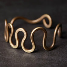 Load image into Gallery viewer, Hand Curved Brass Bangle