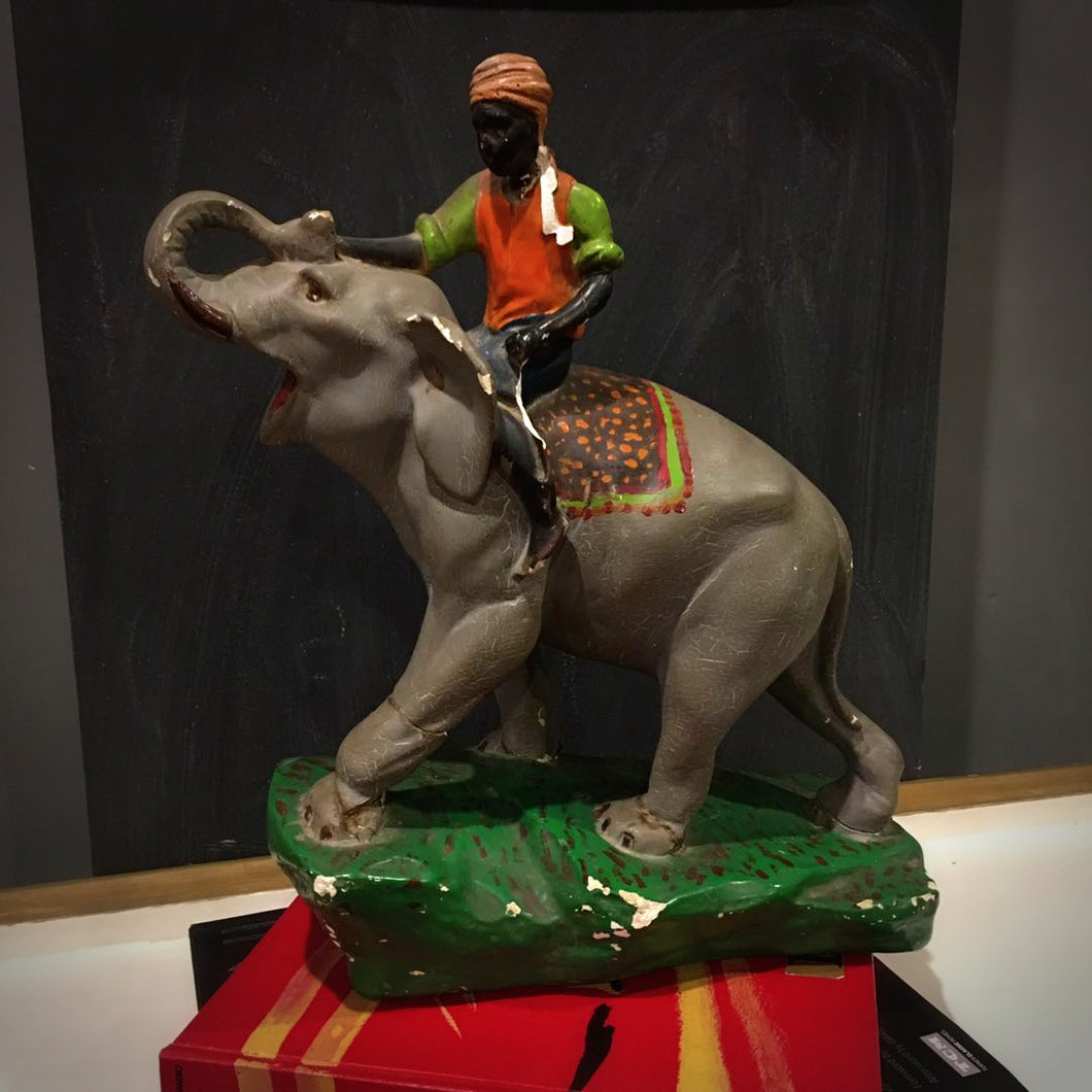 Elephant and Rider Statue