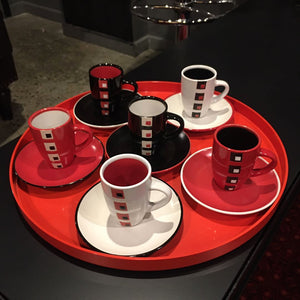 Espresso Set with Cups and Saucers