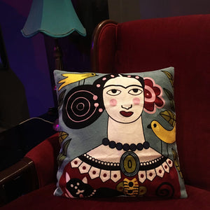 Boho Frida Kahlo Cushion