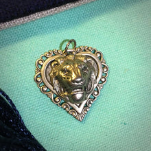 Load image into Gallery viewer, Lion Head and Heart Pendant