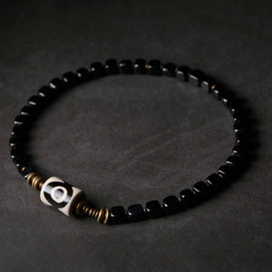 Men's Handcrafted Beaded Stone Bracelet