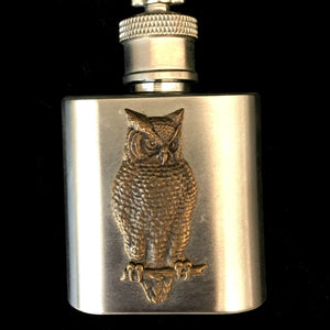 Silver Owl Flask and Keyring