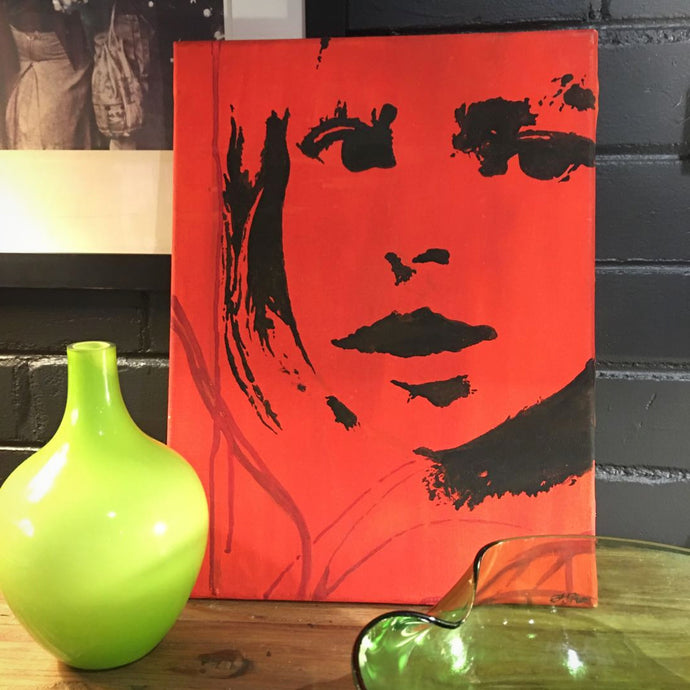 Little Girl Red original canvas