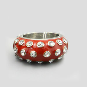 Red Studded Ring