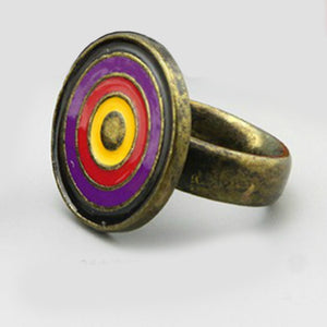 Funky enamelled ring