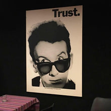 Load image into Gallery viewer, Trust. Elvis Costello Mounted Poster
