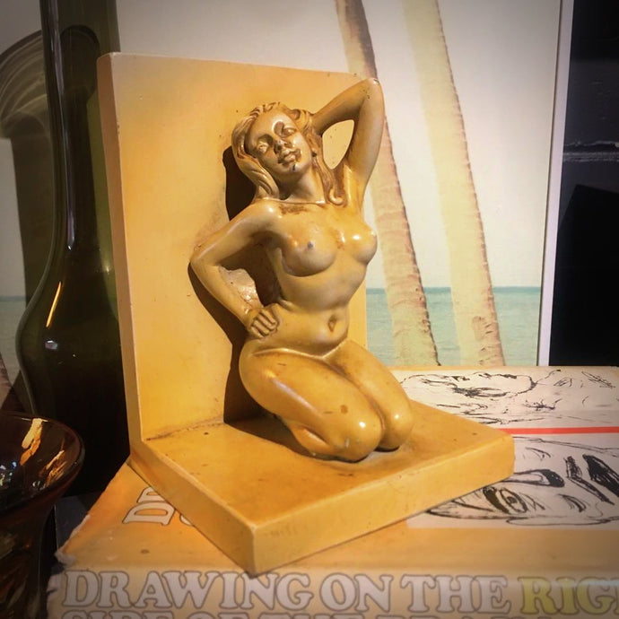 Vintage Statue Nude Bookend