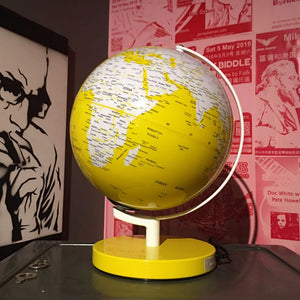 Yellow World Globe Lamp