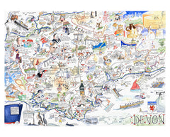 MAP OF DEVON Giclée Print limited edition of 300