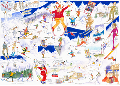 HEADING FOR THE SLOPES -  Giclée Print limited edition of 300