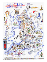 MAP OF ENGLAND