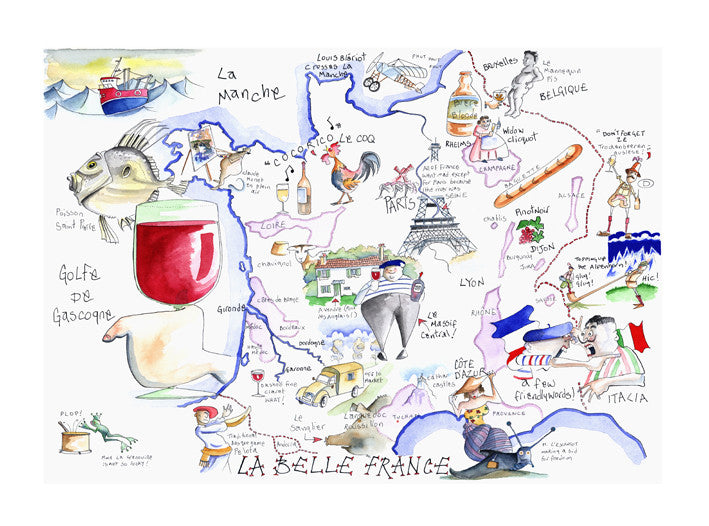Map Of France Cartoon.Map Of France Tim Bulmer Humorous Cartoons For All Occasions