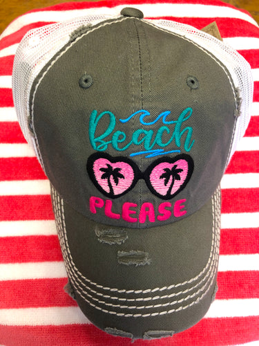 Beach Please Trucker Cap