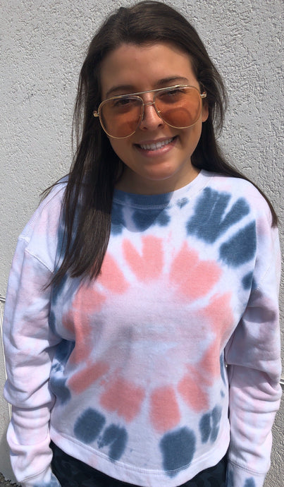 A Twisted TyeDye Burnout Crewneck