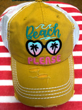 Load image into Gallery viewer, Beach Please Trucker Cap