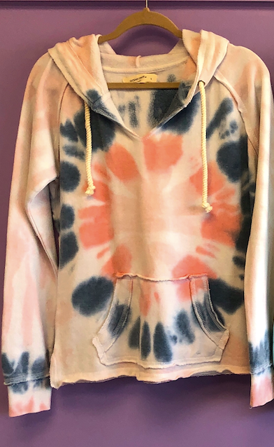 A Twisted TyeDye Burnout Hoodie