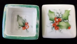 Hand-Painted Little Porcelain Boxes