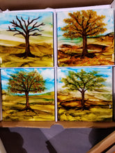 Load image into Gallery viewer, Hand-Painted Coaster Set of 4
