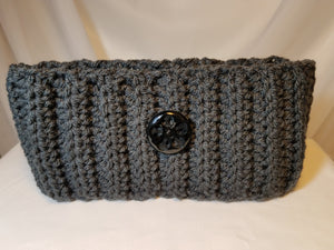 Headband - Gray with Button
