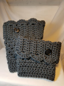 Bootcuffs  - Gray with Buttons