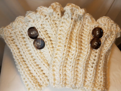 Bootcuffs  - Ivory with Buttons