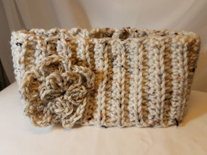 Headband - Ivory Blend with Flower